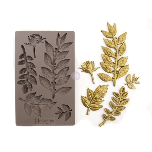 Prima Marketing LEAFY BLOSSOMS Re-Design Decor Mould 635756 Preview Image