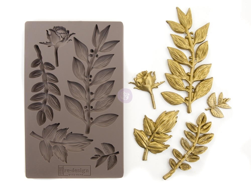 Prima Marketing LEAFY BLOSSOMS Re-Design Decor Mould 635756 zoom image