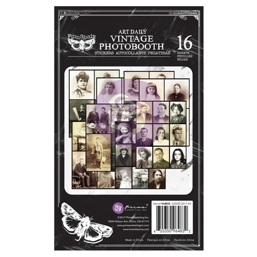 Prima Marketing VINTAGE PHOTOBOOTH Art Daily Planner Sticker Pad 964832 Preview Image