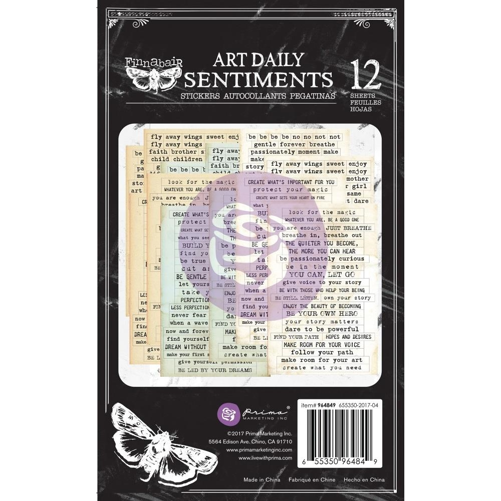 Prima Marketing SENTIMENTS Art Daily Planner Sticker Pad 964849 zoom image