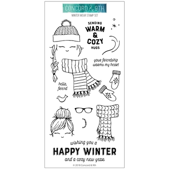 Concord & 9th WINTER WEAR Clear Stamp Set 10497