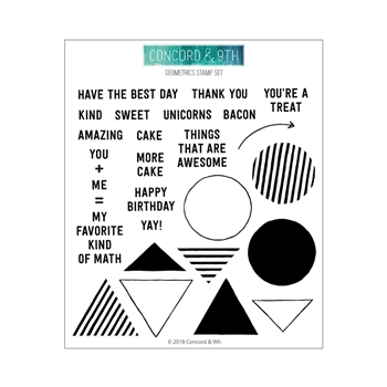 Concord & 9th GEOMETRICS Clear Stamp Set 10503