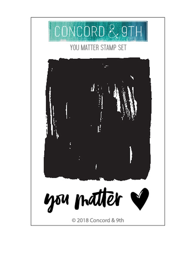 Concord & 9th YOU MATTER Clear Stamp Set 10478 zoom image