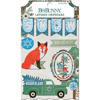 BoBunny WINTER GETAWAY Layered Chipboard 7310418