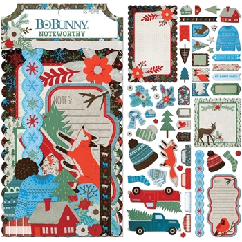 BoBunny WINTER GETAWAY Die Cuts Noteworthy 7310419