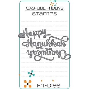 CAS-ual Fridays HAPPY HANUKKAH Fri-Dies Steel Craft Dies CFD1815