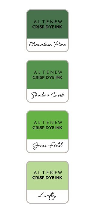 Altenew GREEN VALLEY Mini Cube Crisp Dye Ink Pad Set ALT2736 zoom image