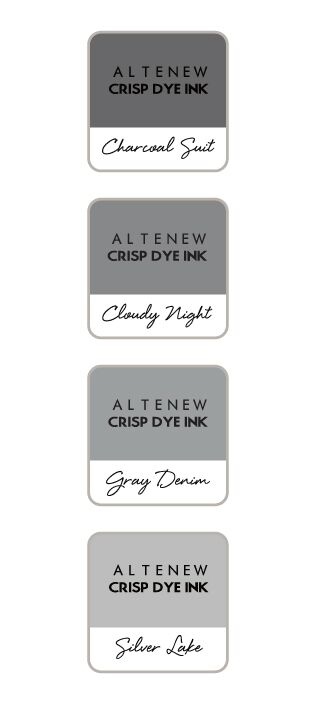 Altenew GENTLEMAN'S GREY Mini Cube Crisp Dye Ink Pad Set ALT2735 zoom image