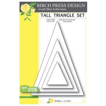 Birch Press Design TALL TRIANGLE SET Craft Dies 57216