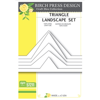 Birch Press Design TRIANGLE LANDSCAPE SET Craft Dies 57211