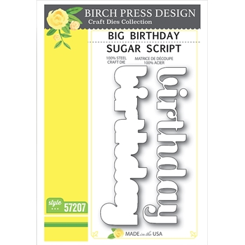 Birch Press Design BIG BIRTHDAY SUGAR SCRIPT Craft Dies 57207