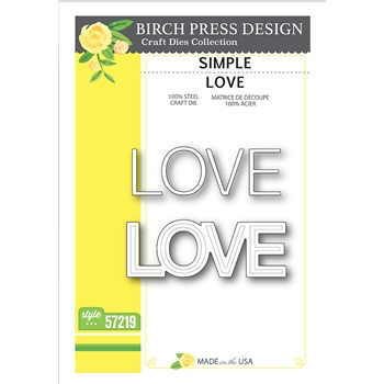 Birch Press Design SIMPLE LOVE Craft Dies 57219