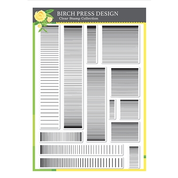Birch Press Design LINE FADE Clear Stamps cl8137