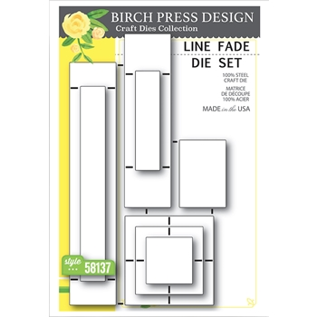 Birch Press Design LINE FADE Craft Die Set 58137