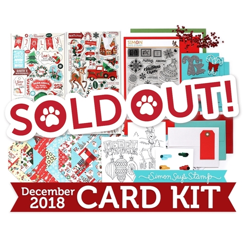 Simon Says Stamp Card Kit of The Month DECEMBER 2018 HOLIDAY CHEER ck1218 Preview Image