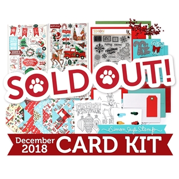 Simon Says Stamp Card Kit of The Month DECEMBER 2018 HOLIDAY CHEER ck1218