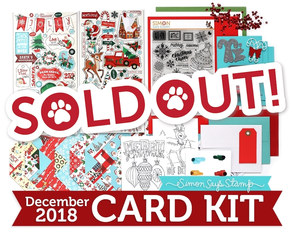 Simon Says Stamp Card Kit of The Month DECEMBER 2018 HOLIDAY CHEER ck1218 zoom image