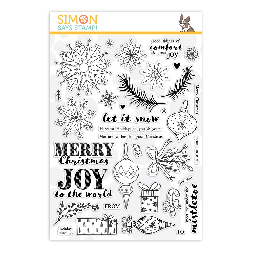 Simon Says Clear Stamps COMFORT AND JOY sss101956 zoom image