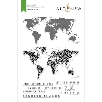 Altenew WORLD MAP Clear Stamps ALT2827