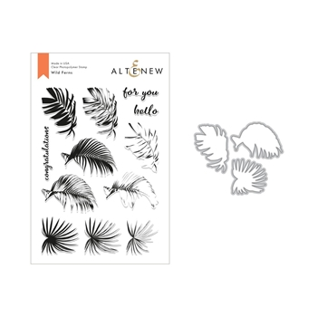 Altenew WILD FERNS Clear Stamp and Die Set ALT2826