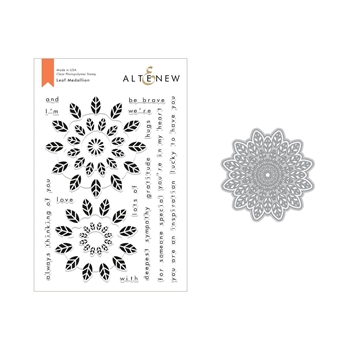 Altenew LEAF MEDALLION Clear Stamp and Die Set ALT2823