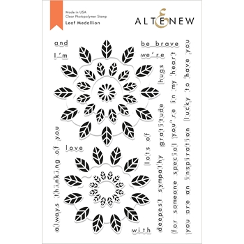 Altenew LEAF MEDALLION Clear Stamps ALT2821
