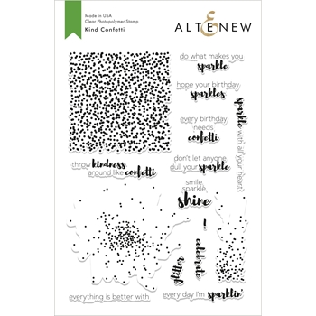 Altenew KIND CONFETTI Clear Stamps ALT2820
