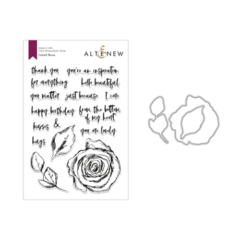 Altenew INKED ROSE Clear Stamp and Die Set ALT2819
