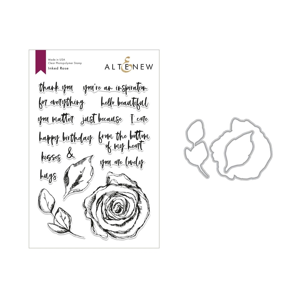 Altenew INKED ROSE Clear Stamp and Die Set ALT2819 zoom image
