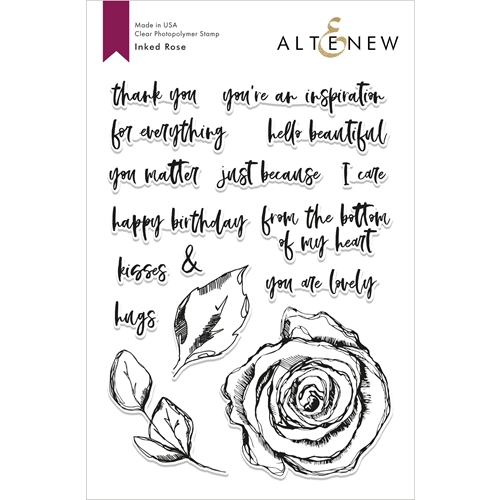 Altenew INKED ROSE Clear Stamps ALT2817 Preview Image
