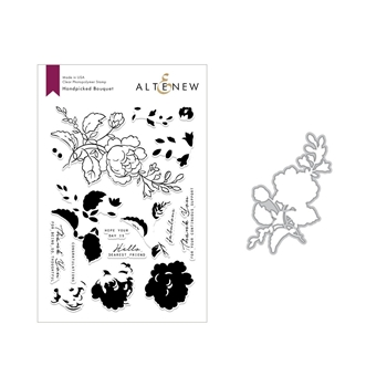 Altenew HANDPICKED BOUQUET Clear Stamp and Die Set ALT2816