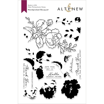 Altenew HANDPICKED BOUQUET Clear Stamps ALT2814