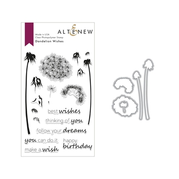 Altenew DANDELION WISHES Clear Stamp and Die Set ALT2809
