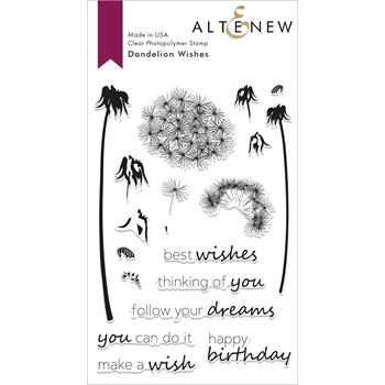 Altenew DANDELION WISHES Clear Stamps ALT2807