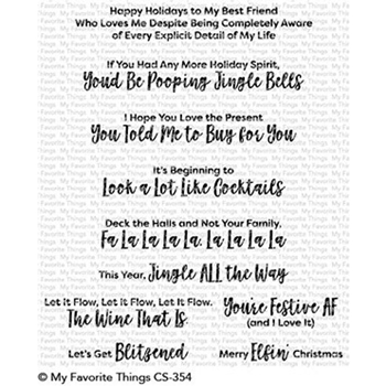 My Favorite Things SASSY PANTS HOLIDAY Clear Stamps CS354