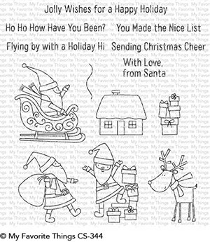 My Favorite Things HERE COMES SANTA CLAUS Clear Stamps CS344