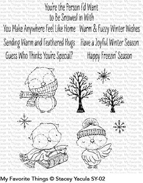 My Favorite Things Warm and Feathered Hugs Clear Stamp Set