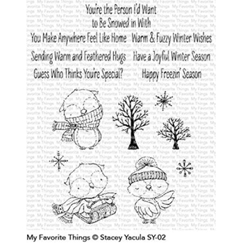 My Favorite Things WARM AND FEATHERED HUGS Clear Stamps SY02