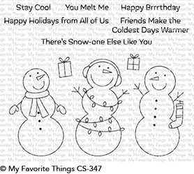 My Favorite Things FROSTY FRIENDS Clear Stamps CS347