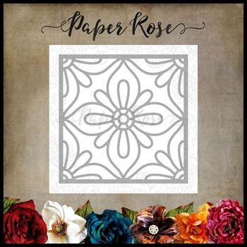 Paper Rose Moroccan Square Die Layer 1