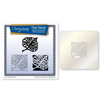Claritystamp LEAF SKELETON THREE WAY OVERLAY Clear Stamps and Stencil clafl20062a5