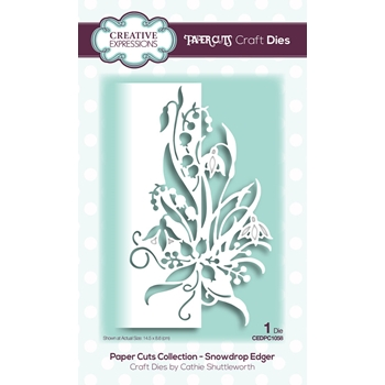 Creative Expressions SNOWDROP EDGER Paper Cuts Collection Dies cedpc1058