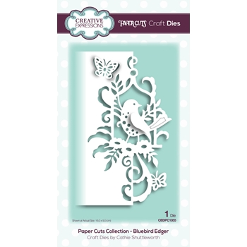 Creative Expressions BLUEBIRD EDGER Paper Cuts Collection Dies cedpc1055