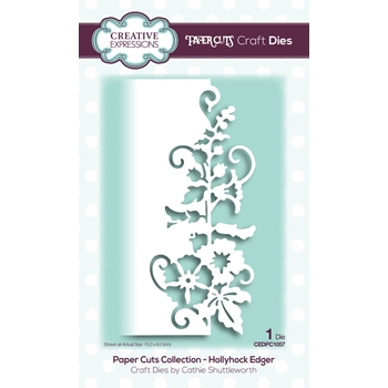 Creative Expressions HOLLYHOCK EDGER Paper Cuts Collection Dies cedpc1057