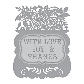 S5-385 Spellbinders WITH LOVE Etched Dies by Sharyn Sowell