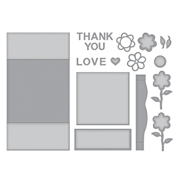 S7-216 Spellbinders FLOWER BOX CARD Etched Dies by Marisa Job