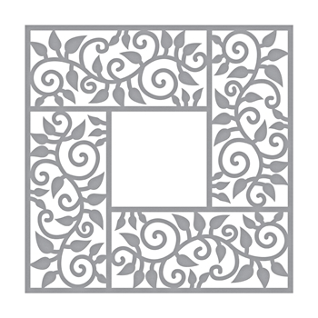 S4-958 Spellbinders LEAF BORDER FRAME Etched Die by Marisa Job