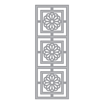 S4-956 Spellbinders SQUARE MEDALLION TILES Etched Die by Marisa Job
