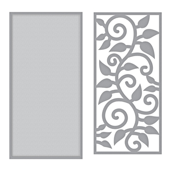 S3-347 Spellbinders LEAF BORDER Etched Dies by Marisa Job
