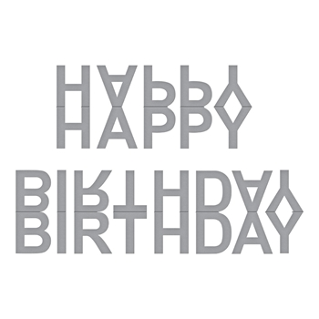 S2-300 Spellbinders HAPPY BIRTHDAY BANNER Etched Dies by Marisa Job
